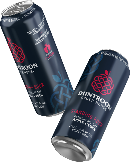Two cans of Duntroon Standing Rock Cyder